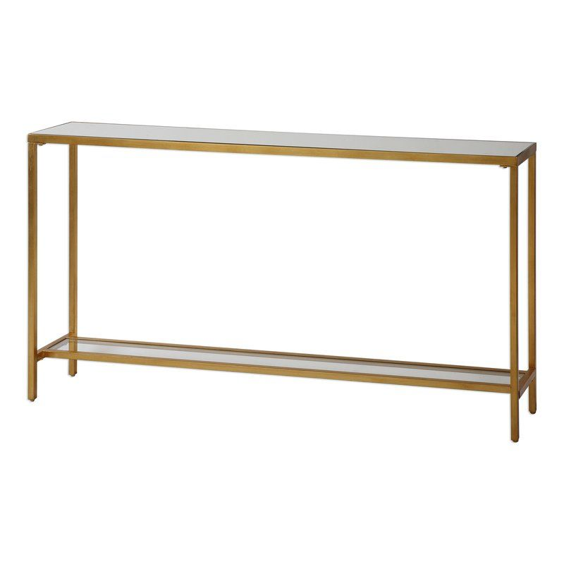Astounding Clairmont Console Table Mirrored Top Glass Shelf 30 H X Ocoug Best Dining Table And Chair Ideas Images Ocougorg