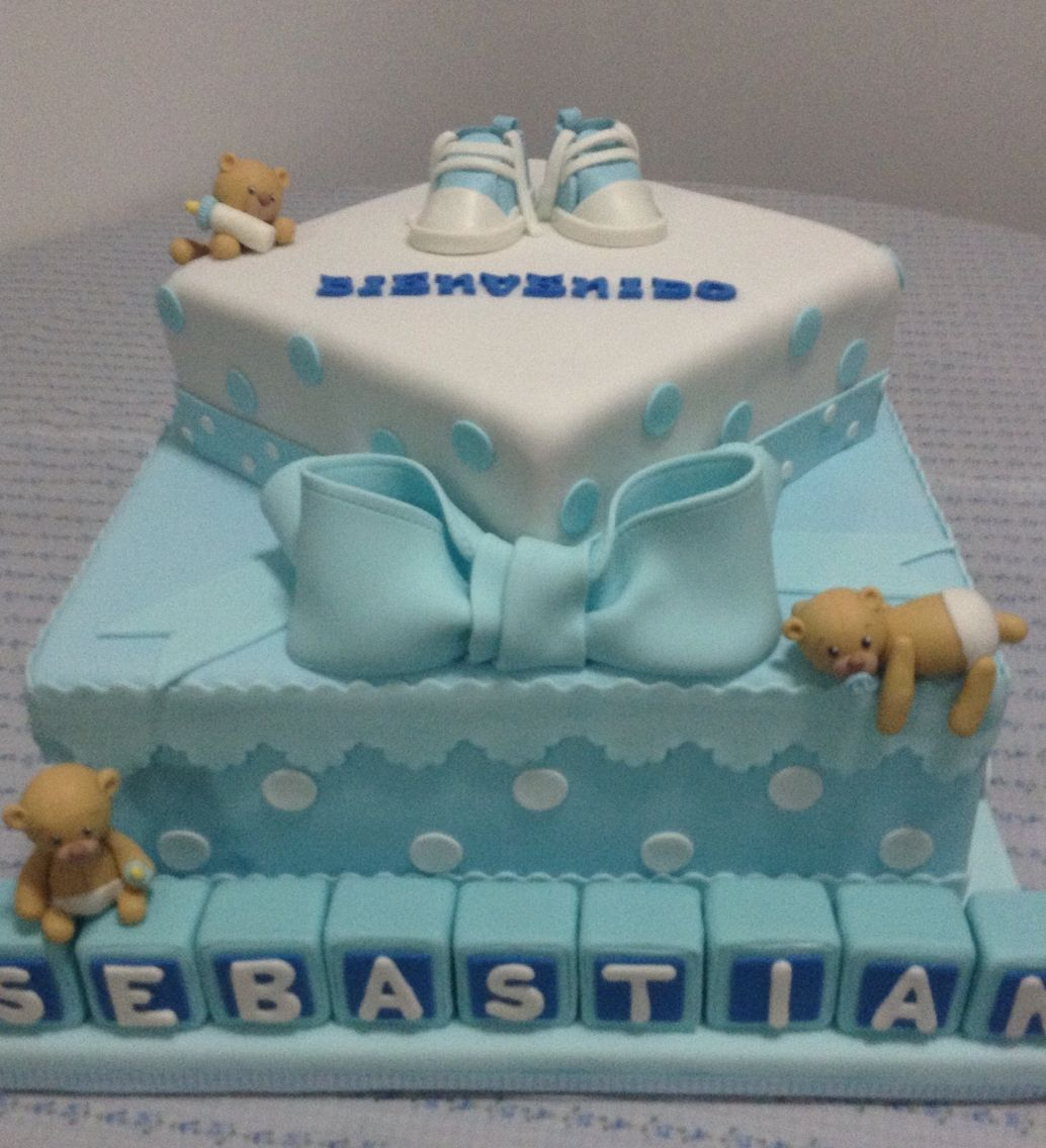 Good Torta Para Baby Shower De Bebé Con Ositos U2026