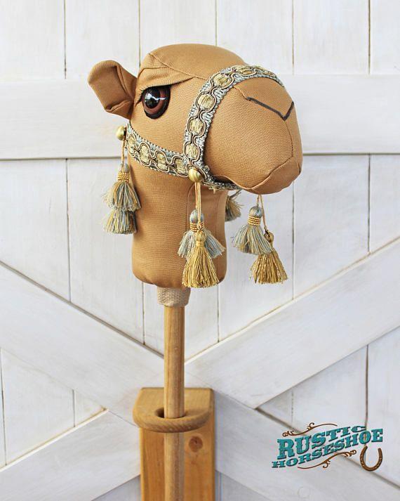 Camel ride on toy stick horse jamal brown toddler size ready to ship curiosidades pinterest - Cabezas animales tela ...