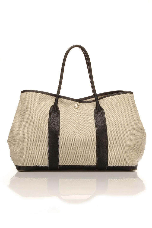Hermes HEGarden Party Canvas Handbag In Gray.....love it