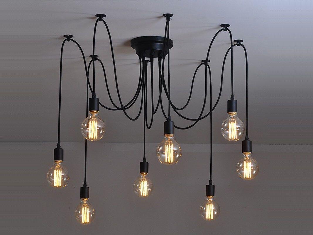 etsy lighting pendants. Spider Chandelier 6-12 Lights Pendant Light Octopus Industrial Lighting Modern Etsy Pendants A