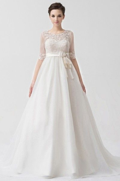 A-line Sweetheart Sleeveless Sequined Court Train Wedding Dress (003171) - A-Line Wedding Dresses - Wedding Dresses - Wedding Apparel