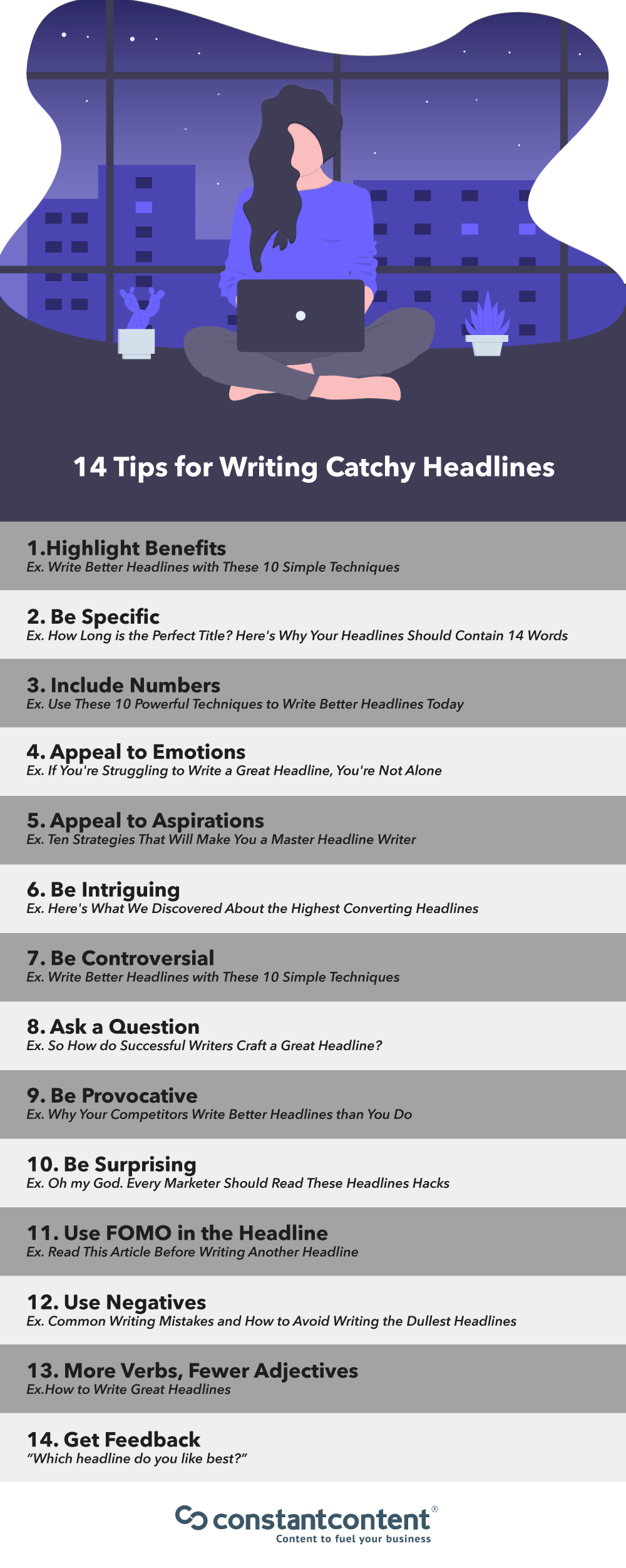 Articles need great healdlines Here are 27 tips to help write