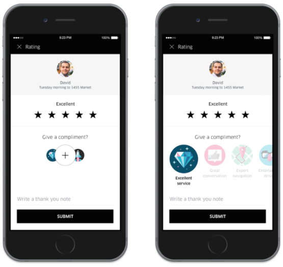 Now you can give compliments to good Uber drivers