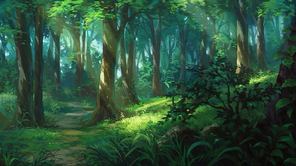 Kriss Forest Southeast Of The Irst Peaks Cenario Anime
