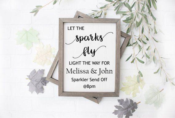 Download Let Sparks Fly Wedding Sign   Wedding Printable. Sparkler ...