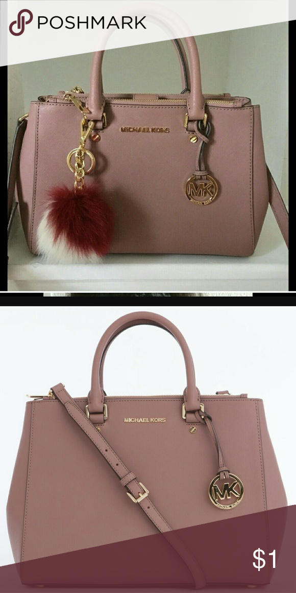 f0352930d36a Michael kors dusty rose sutton satchel Looking for this bag in any size and  the wallet as well. Please help! Michael Kors Bags Satchels