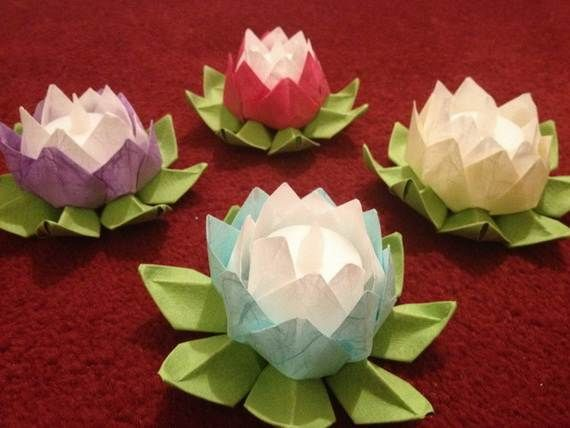 DIY Paper Lotus Lanterns for Buddha's Birthday -