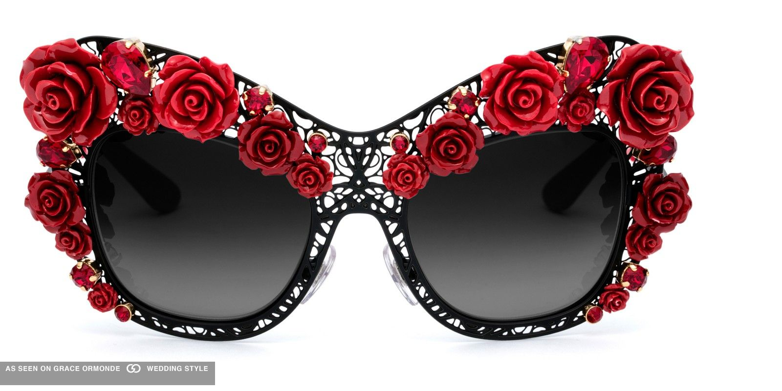 39b4622dd8 dolce and gabbana sunglasses red roses black frame