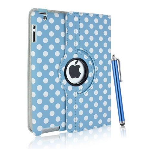 Leather 360 Degree Rotating Smart Cover Stand Case for Apple iPad - 2 1 degree