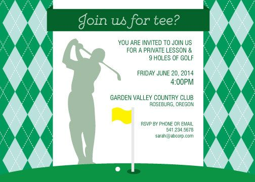 Golf Invitation Mens Golf InviteMens Golf Party Mens Golf