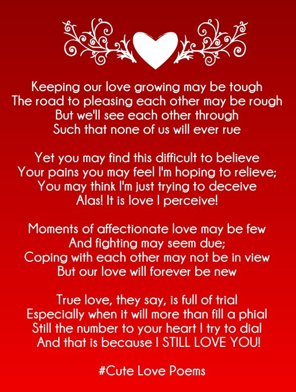 short love rhyming poems for her | cute love quotes for her, Ideas