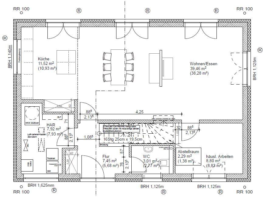 Grundriss OG 25.09.12 | Satteldach 9x12 | Pinterest | Haus und ...