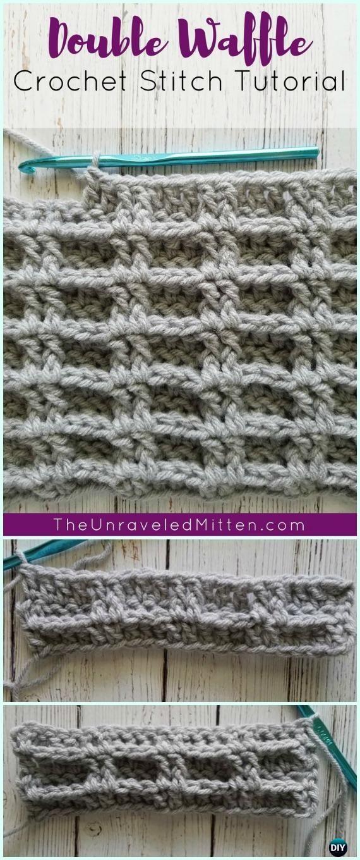 How to Crochet Double Waffle Crochet Stitch Free Pattern | Crochet ...