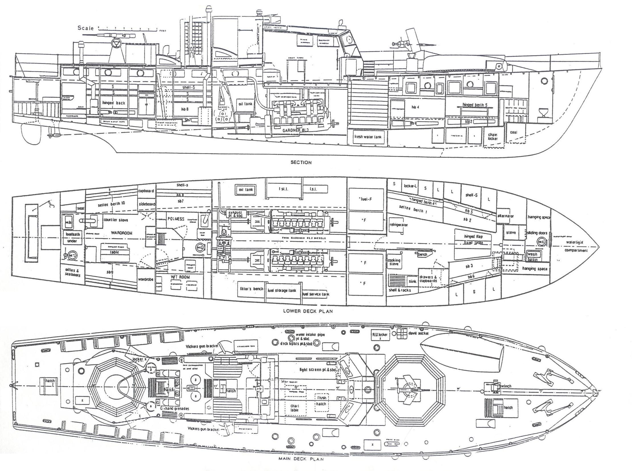 War Ship Deck Plans