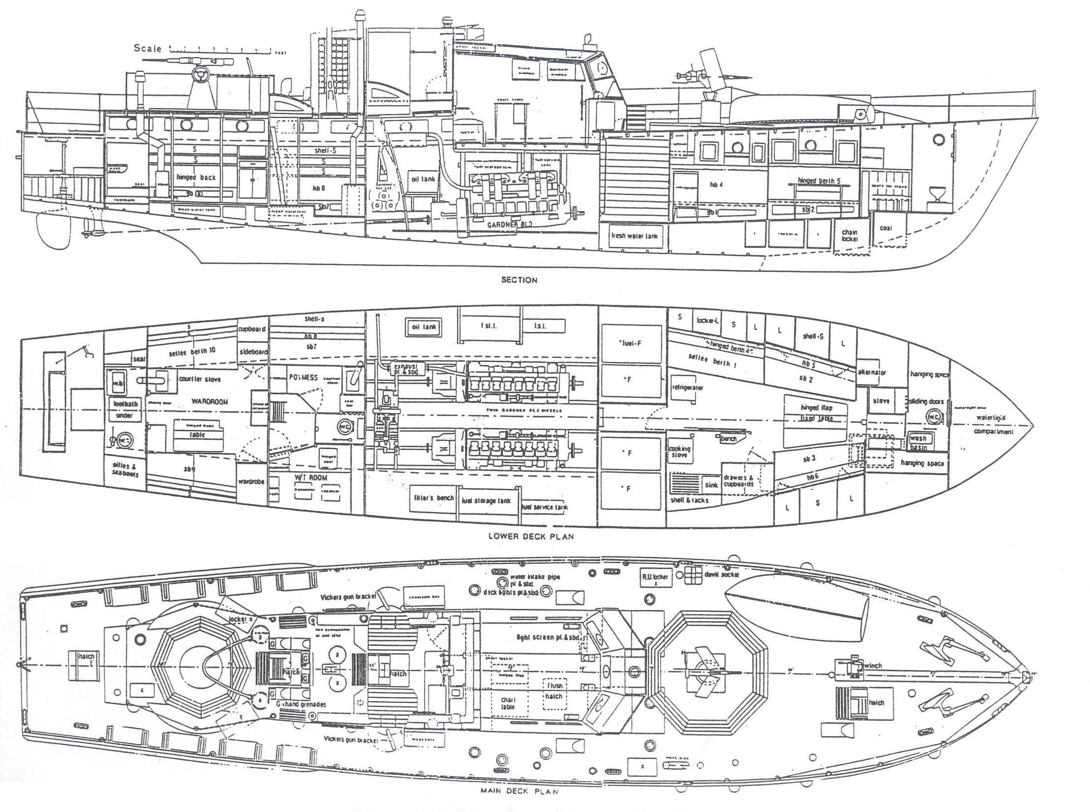 War Ship Deck Plans