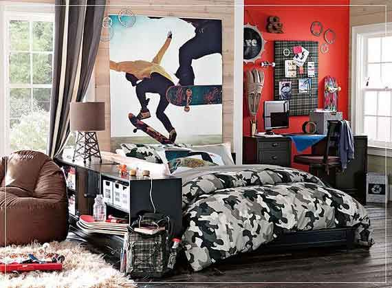 Boys skateboard bedroom ideas design