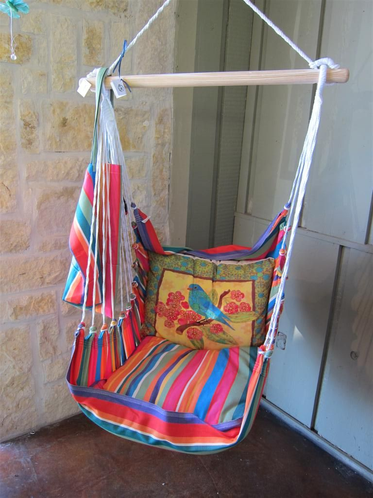 Streaky motive and traditional model for hanging swing chair closed