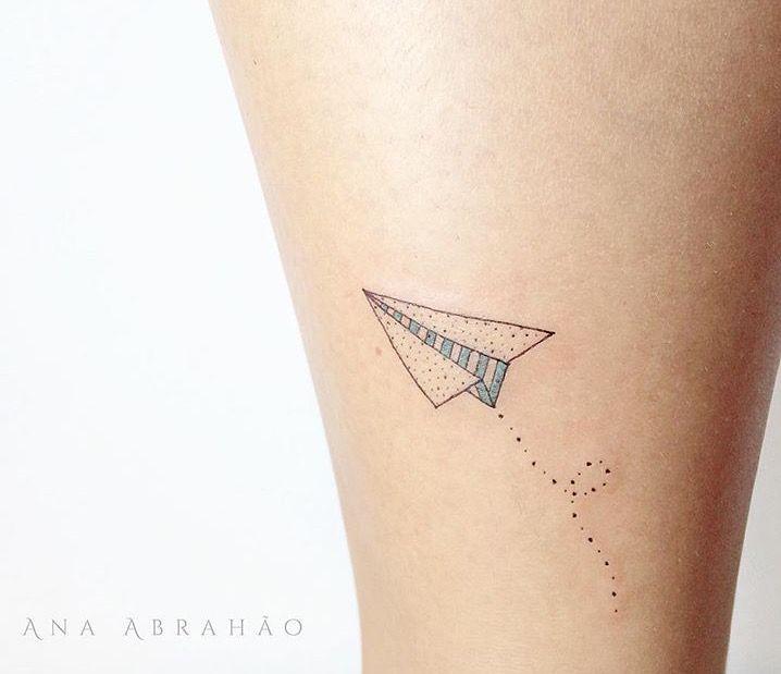 Paper Plane Tattoo Design