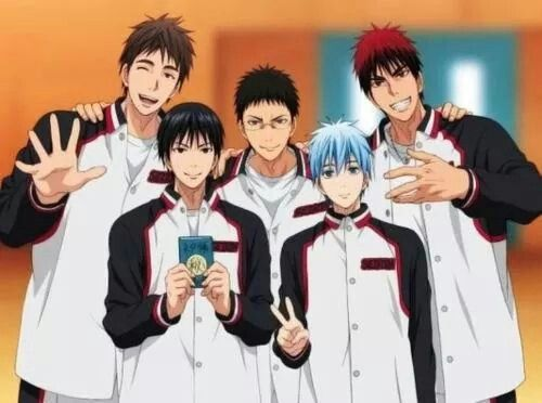 Seirin Kiyoshi, Iduki, Hyuga, Kuroko and Kagami | Kuroko