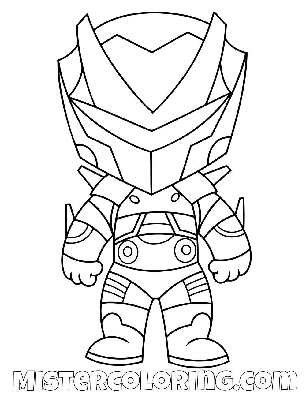 Free Omega Chibi Fortnite Skin Coloring Page For Kids Coloring