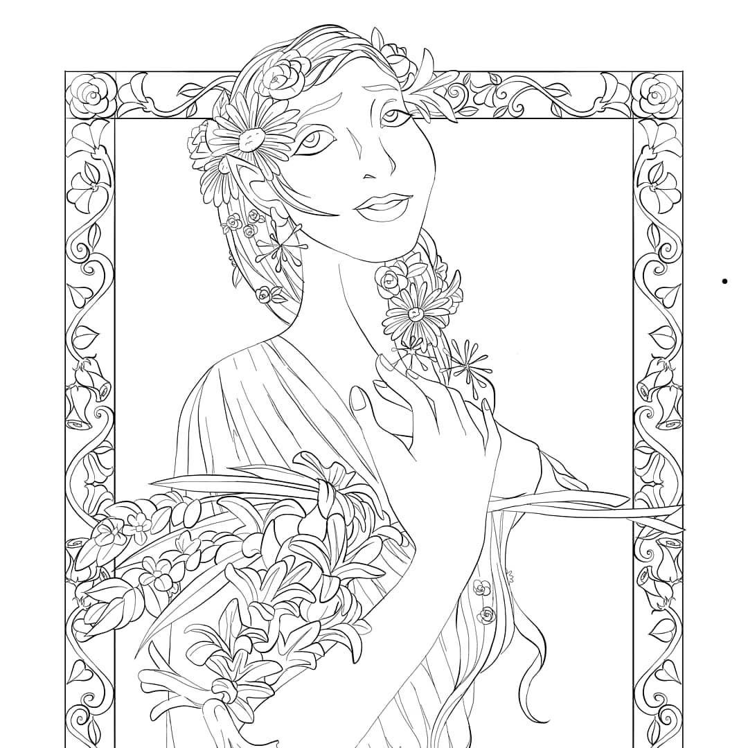This coloring book page is available in my shop right now