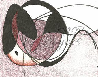 Impresión artística ilustración de pajaro dibujo por mblayers