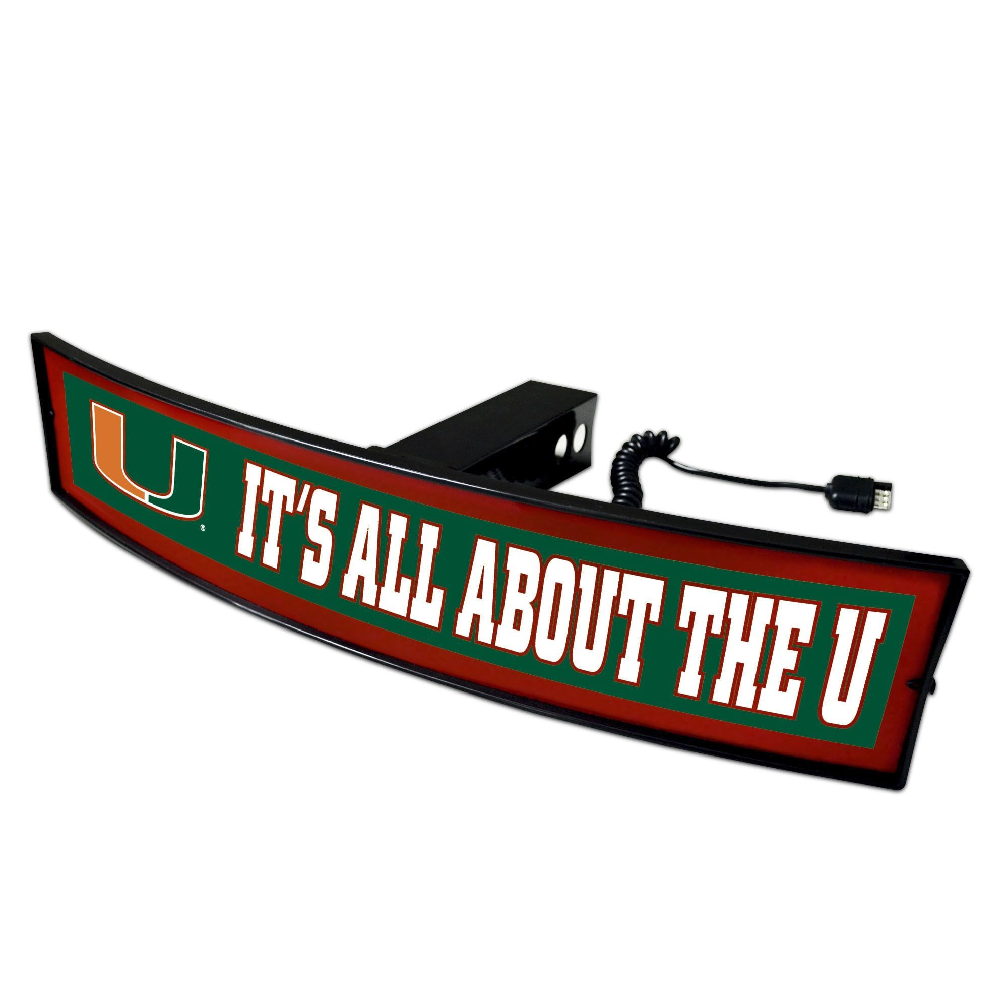 Fanmats Miami It's All About the U Lightup Hitch Cover