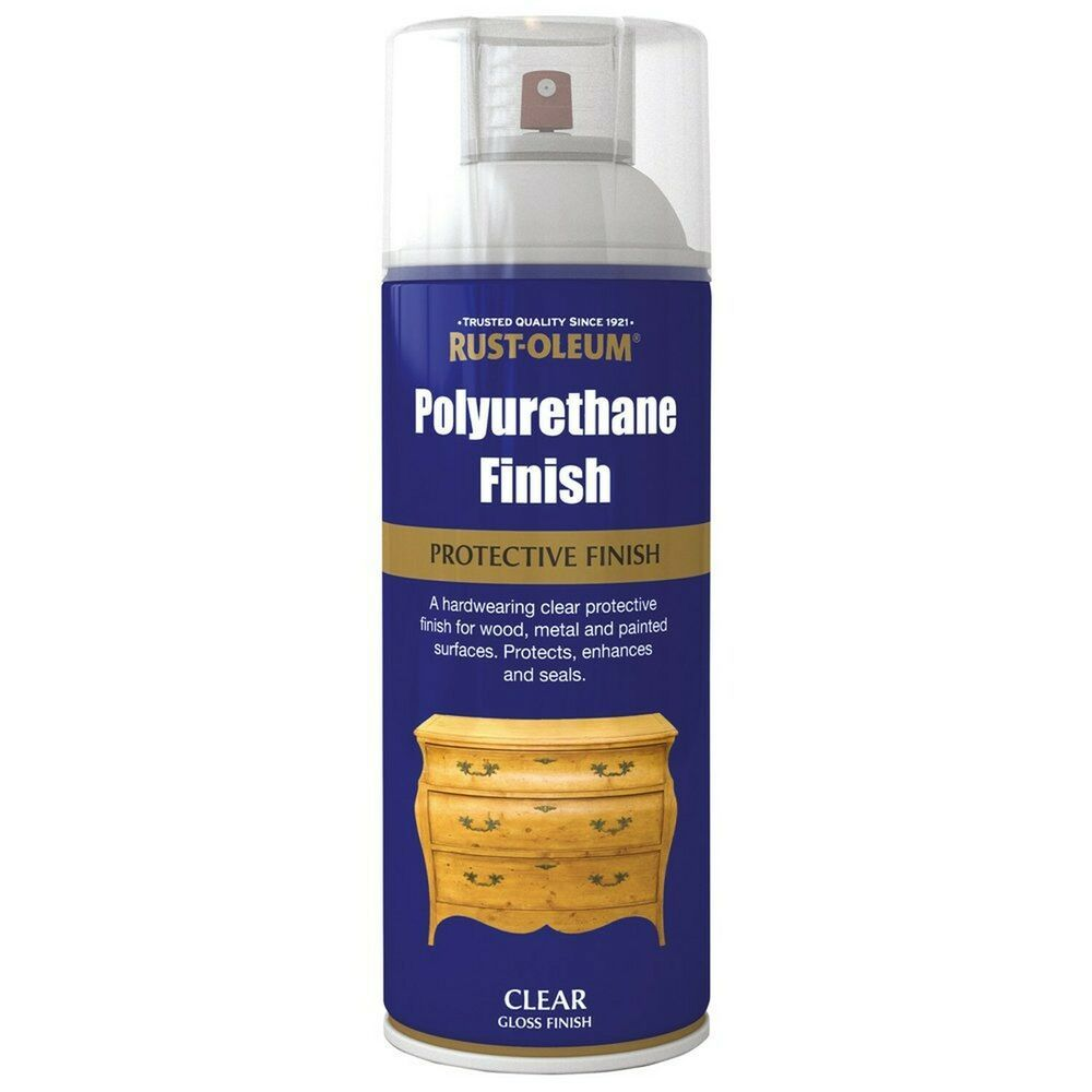 Ebay Advertisement Rust Oleum 400ml Polyurethane Varnish Spray Paint Clear Gloss Gloss Spray Paint Rustoleum Rustoleum Spray Paint
