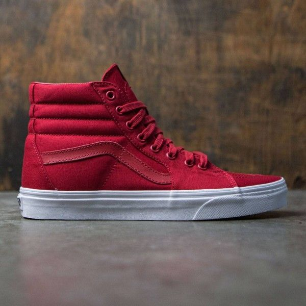Vans Men Sk8Hi  Mono Canvas (red) is part of Mens vans shoes - Vans Men Sk8Hi  Mono Canvas (red)
