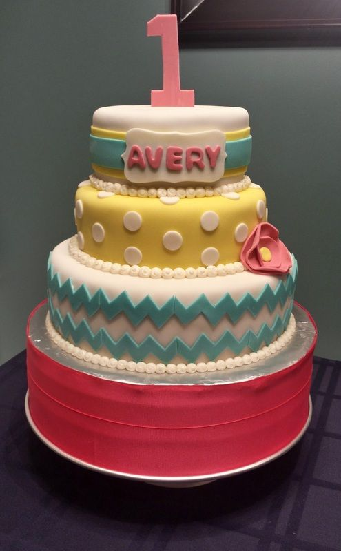 Happy 1st Birthday Little Miss Avery! By Badabing Cakes