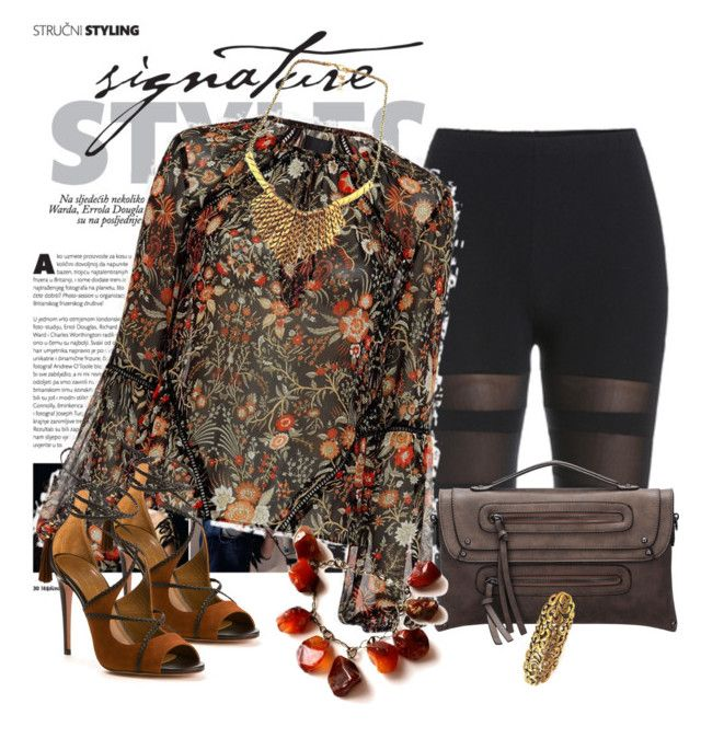 """""""BOHEMIAN"""" by bianca-2904 ❤ liked on Polyvore featuring Exclusive for Intermix and Aquazzura"""