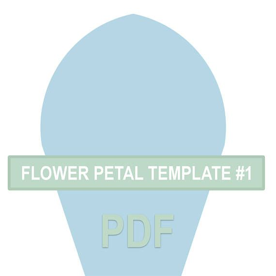 Flower Petal Template #1 PDF Flores de papel, Molde y Flores - flower petal template