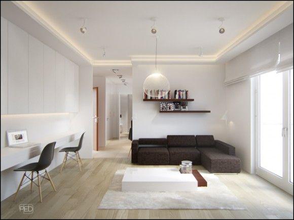 Design Pentru Spatii Mici Apartament De 40m2 1 Modern Apartment Decor Home Office Design Interior Design