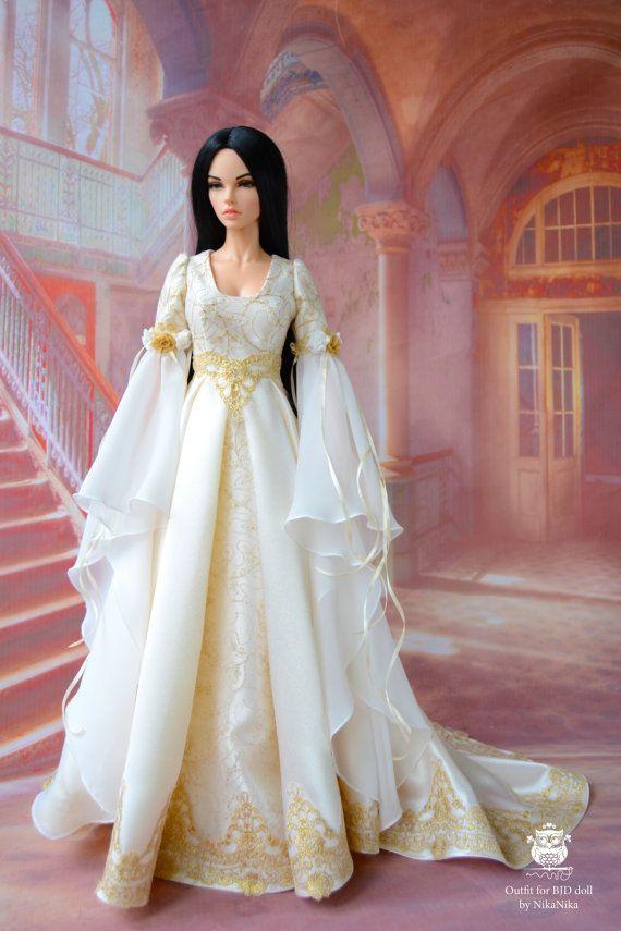 19e9df727d9fa Elf dress for BJD, clothes doll, bjd dress, 1/3 bjd clothes, doll ...