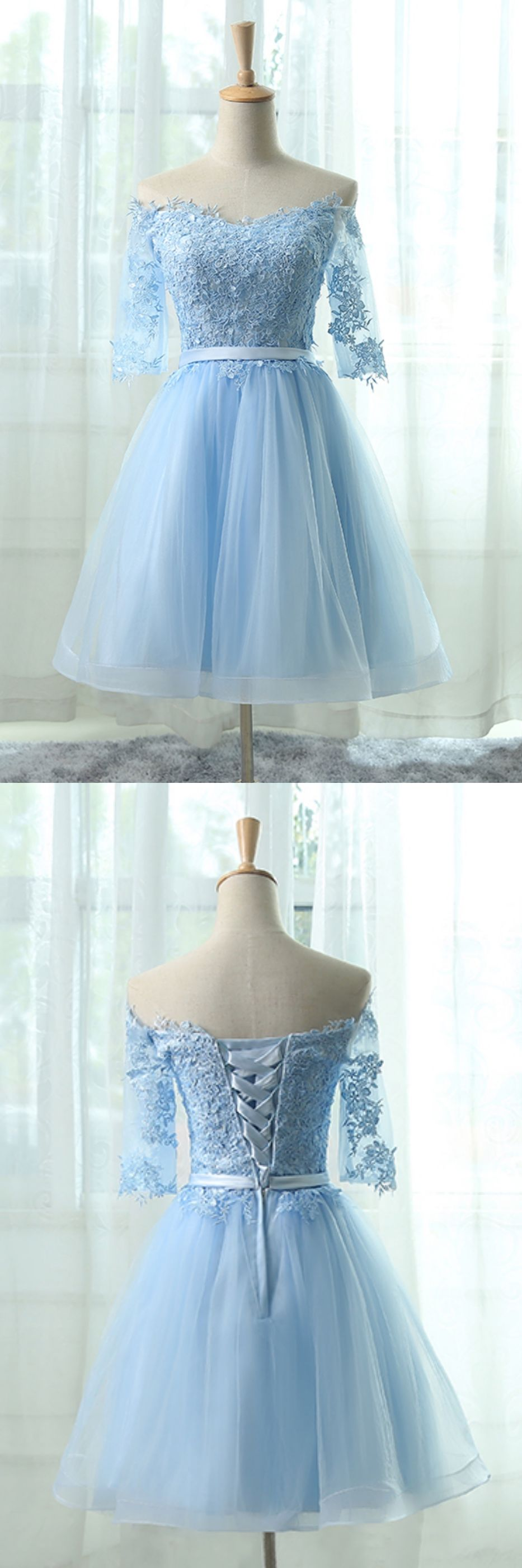 Elegant homecoming dressesaline homecoming dresseslight blue