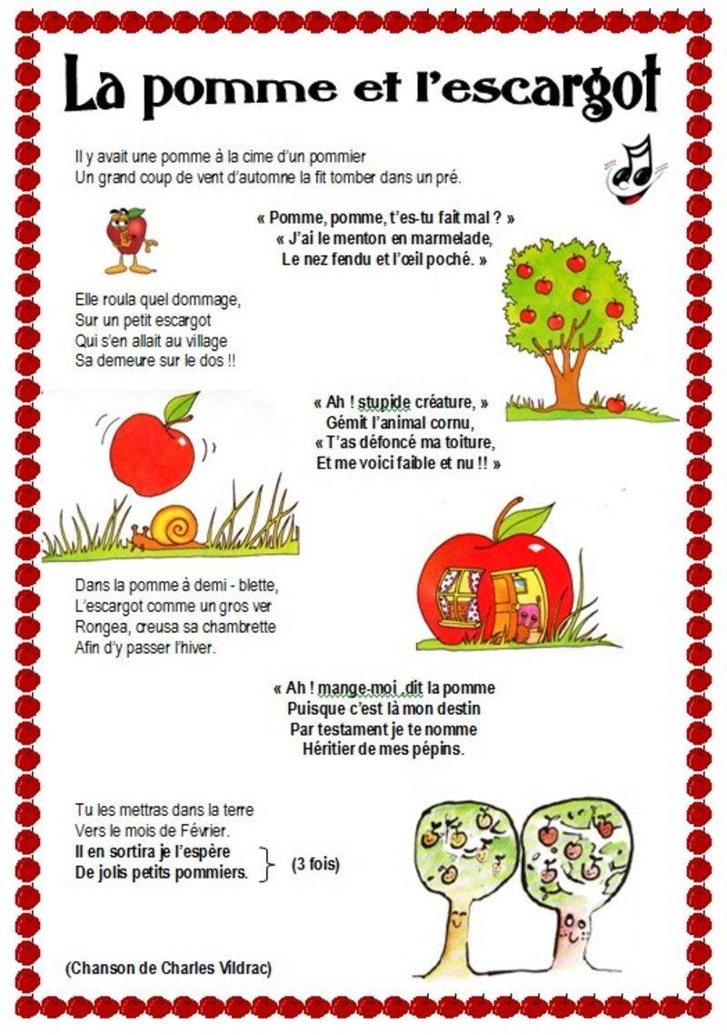 Résultat De Recherche Dimages Pour Poésie La Pomme Et L