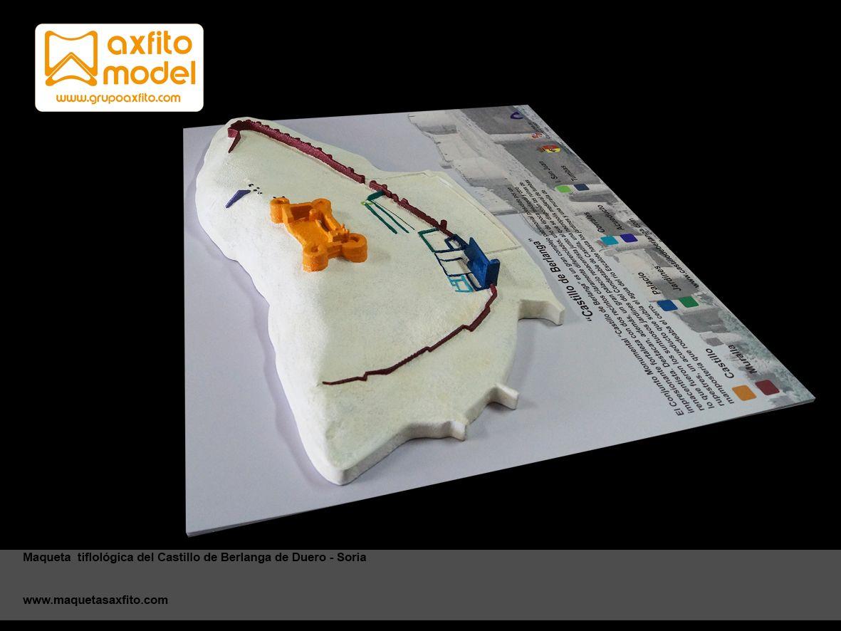 Maqueta Tiflológica Castillo De Berlanga De Duero Maquetas Táctiles Invidentes Grupo Axfito Maquetas En Soria Maquetas Disenos De Unas Castillos