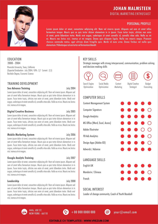 (EDITABLE) FREE CV Templates for Fresh Graduate in 2020