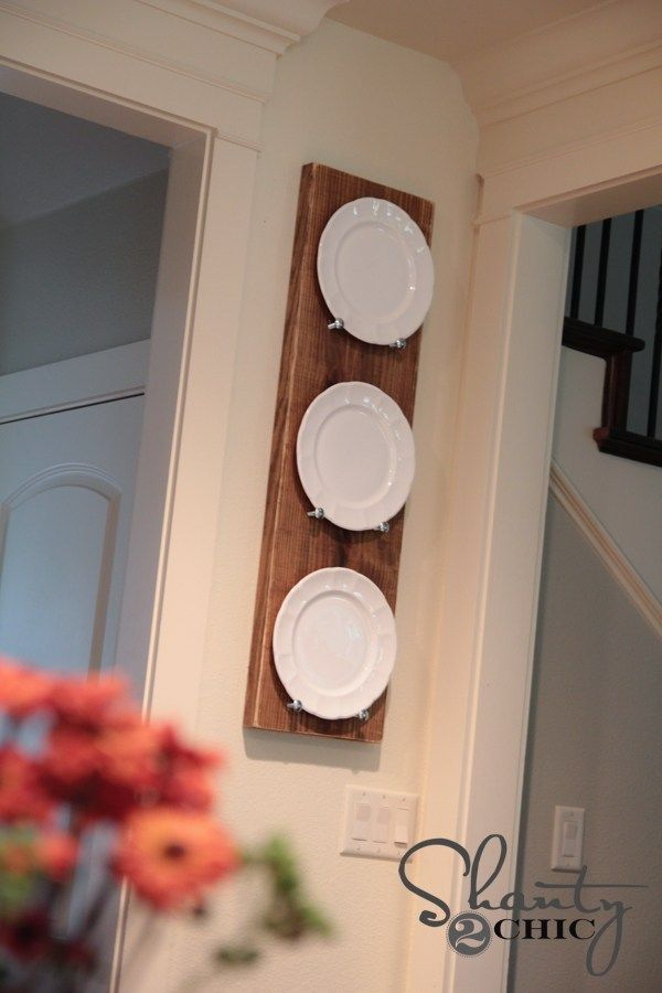 DIY Plate Rack for under $10!! - Shanty 2 Chic