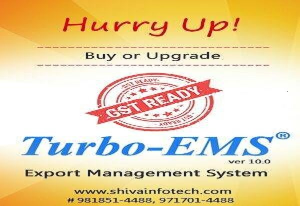 We have released GST Ready Turbo-EMS  Export Management System - when invoice is generated