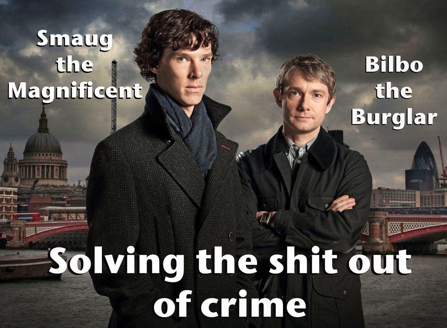 Smaug and Watson AKA Sherlock and Bilbo!