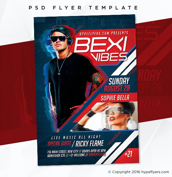 Birthday Flyer Template Music Event Flyer Template Music Event