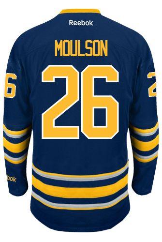 info for ca6cf f8efd Buffalo Sabres Matt MOULSON  26  A  Official Home Reebok Premier Replica  NHL Hockey Jersey (HAND SEWN CUSTOMIZATION)