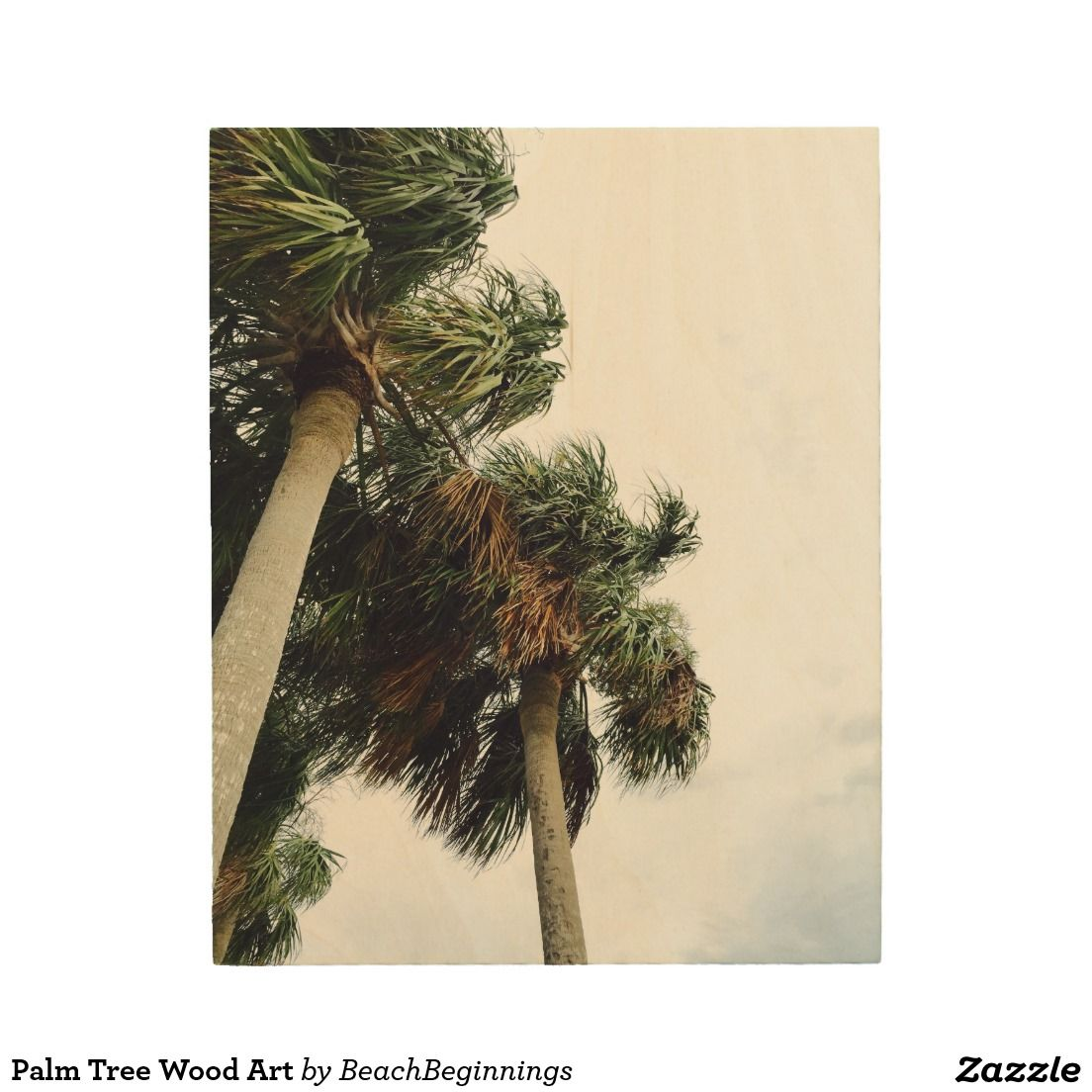 Palm Tree Wood Art Wood Wall Art