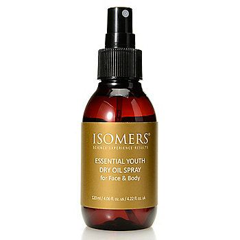 Isomers Reg Essential Youth Dry Oil Spray For Face Body 4 06 Oz Dry Oil Spray Dry Oil Isomers Skincare