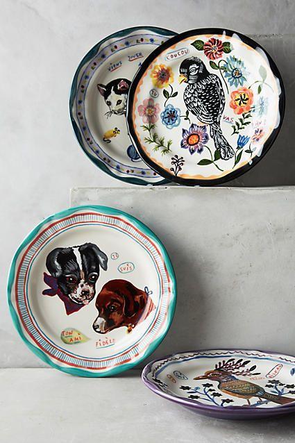 Francophile Dinner Plate #anthrofave