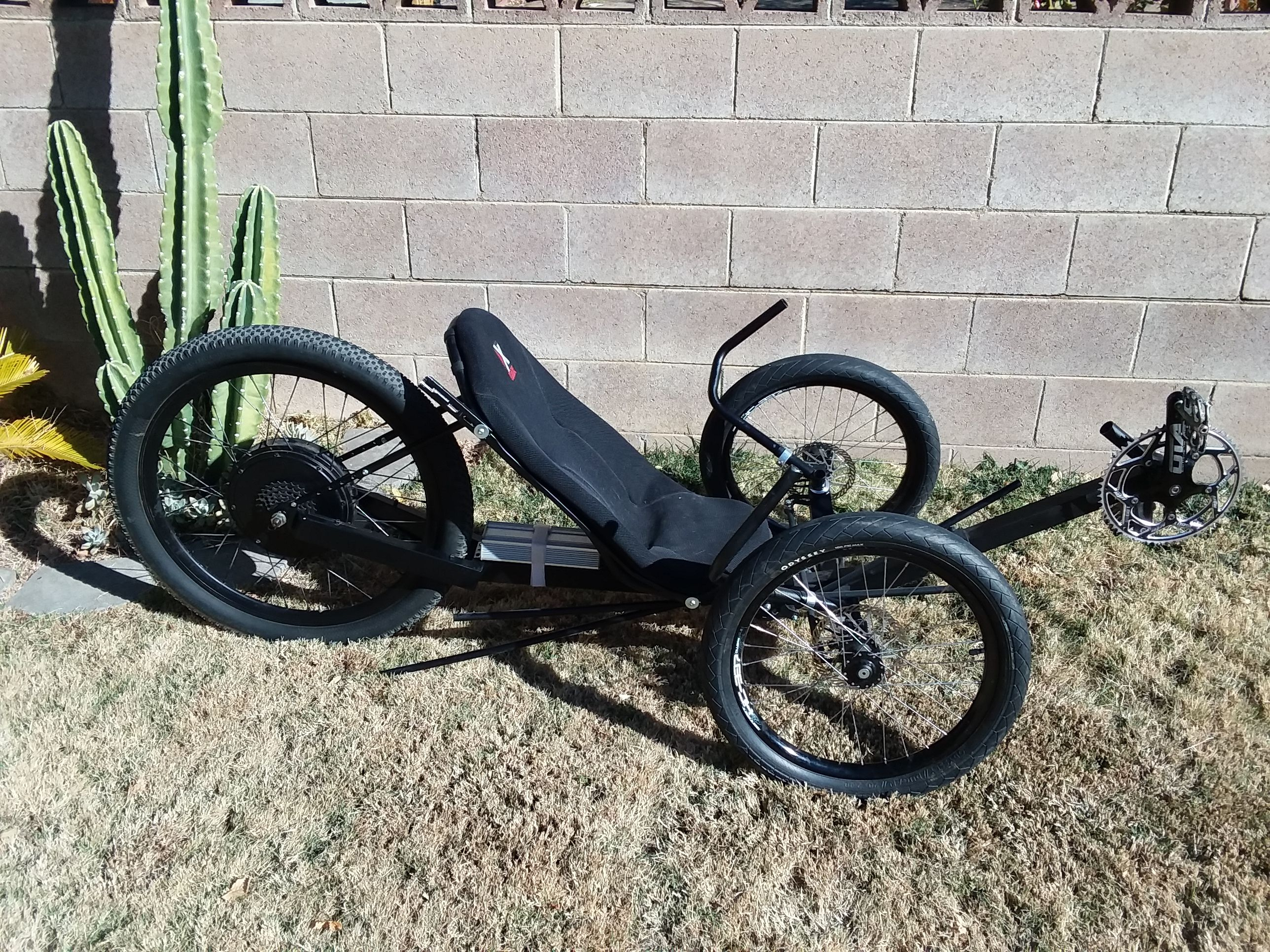 Electric Recumbent Trike Diy Ebike Etrike Tricycle Reverse Trike Tricycle Quadracycle