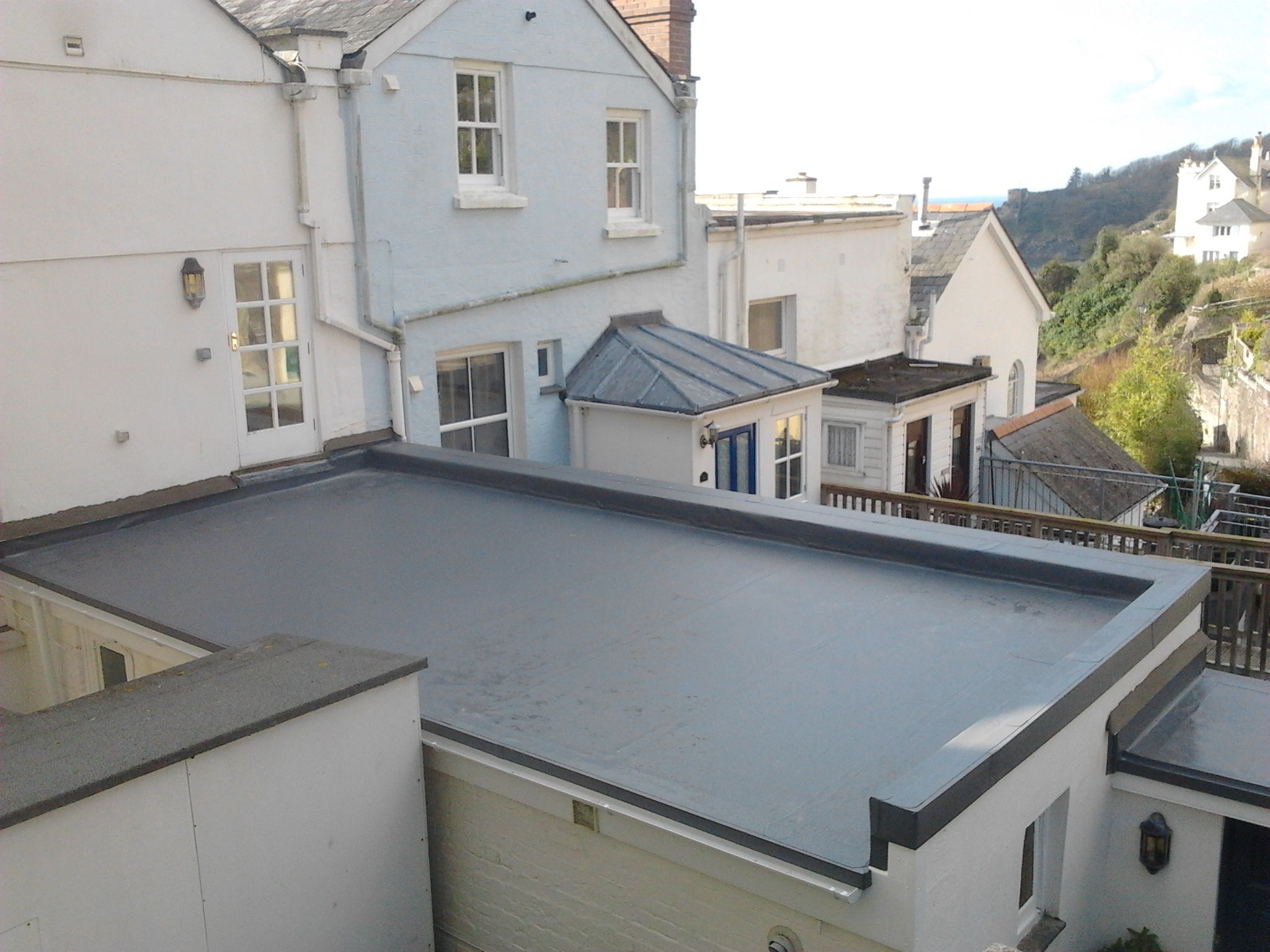 Single Ply Roofing Cornwall Pellow Flat Roofing Ltd Flat Roof Single Ply Roofing Canopy Outdoor
