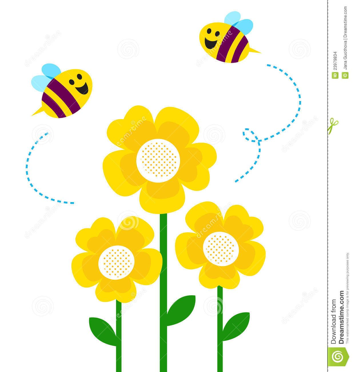 Bee And Flower Drawing Clipart Panda Free Clipart Images Old